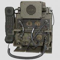 3D model radio radiostation military