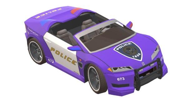 3D shift cop purple car model