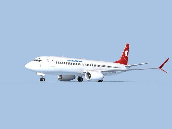 boeing 737-8 airliner 3D model