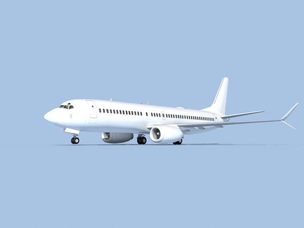 3D boeing 737-8 model