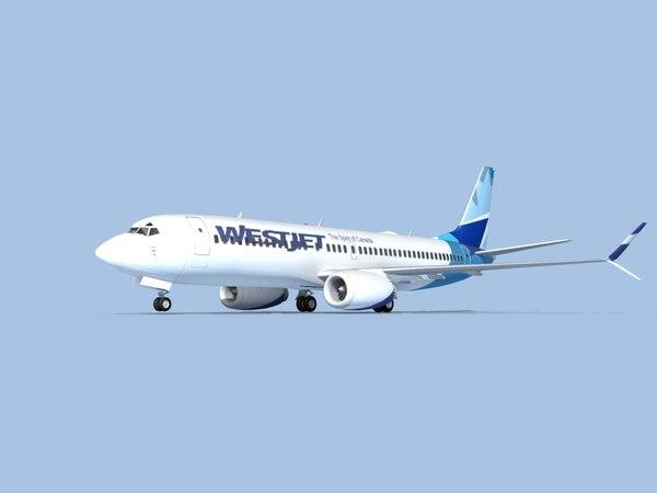 3D model boeing 737-8