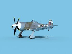 3D propeller hawker tempest model