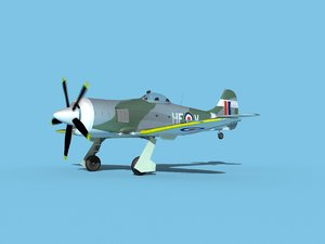 3D propeller hawker tempest