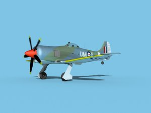 3D model propeller hawker tempest