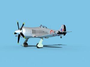 propeller hawker tempest model