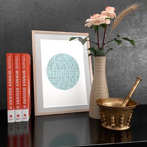 decorative set household items 3D model