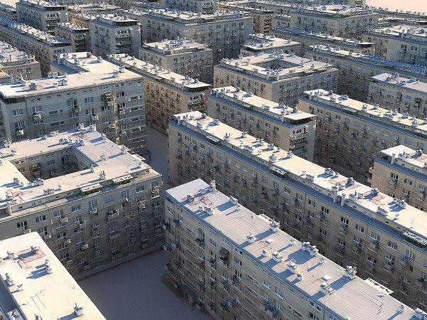 old buildings pack 3D model