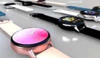 3D galaxy watch active 2 model