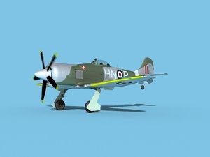 propeller hawker tempest 3D