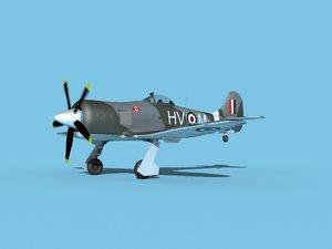 propeller hawker tempest 3D model