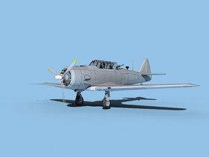 3D model at-6 texan north american