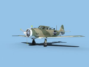 at-6 texan north american 3D model