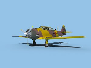 at-6 texan north american 3D