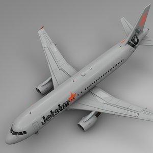3D jetstar airbus a320 l512