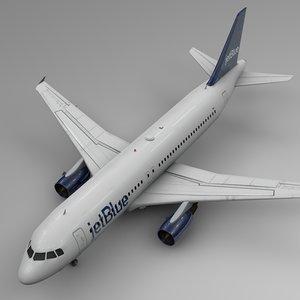 jetblue airbus a320 l513 3D model