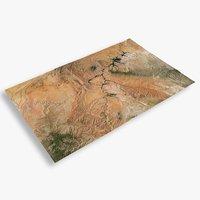 3D desert lake powel mountain terrain