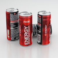 Beverage Can Coca-Cola Energy 250ml 2020