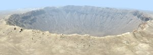 meteor crater meteorite impact 3D