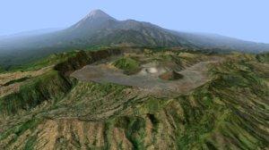 landscape bromo semeru 3D model