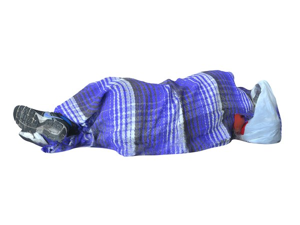 3D model homeless person mexico