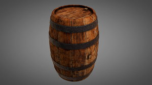 3D old wooden