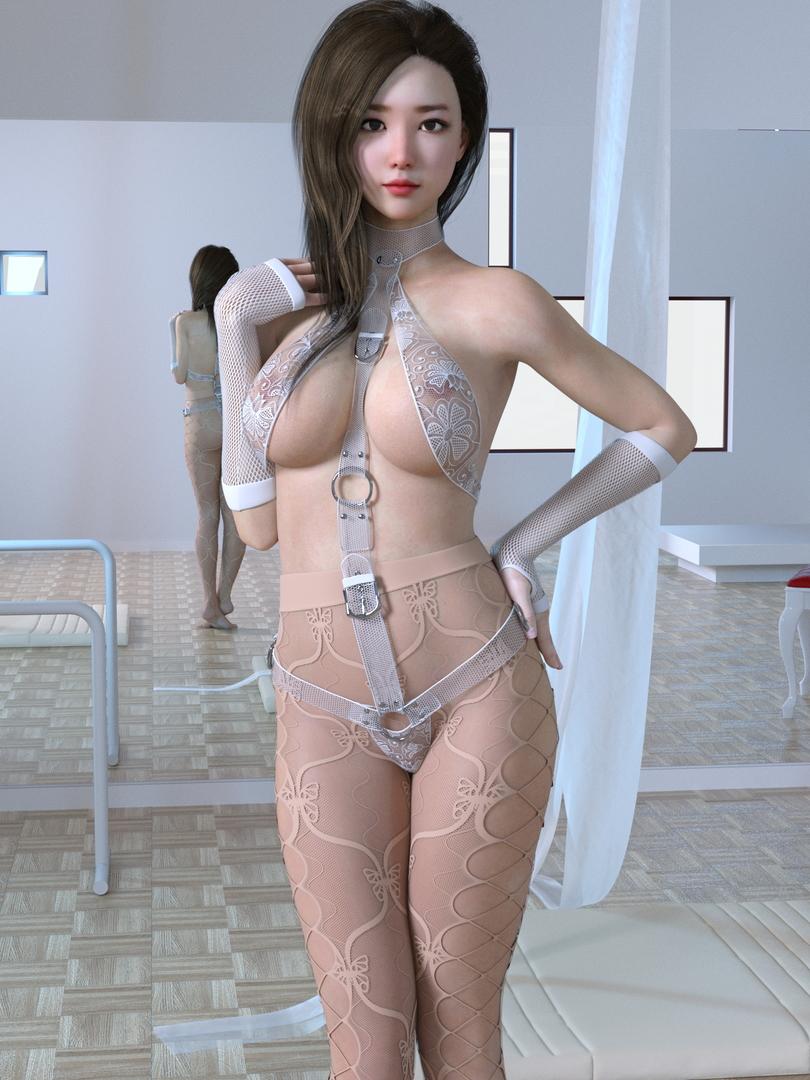 3D rigged female dance