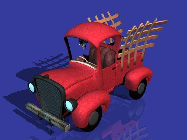 cartoon farm truck vehicle 3D model