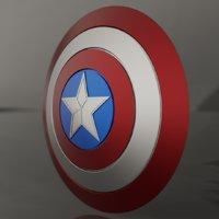 cap shield 3D model