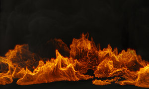 smoke fireplace flame 3D model