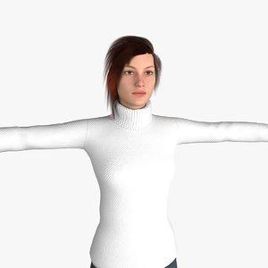 middle women 3D model