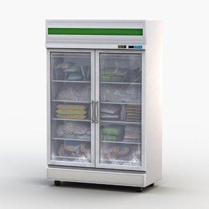 display refrigerator freezer 3D model