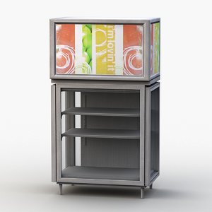 refrigerated display drinks 3D model