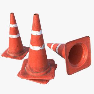 pbr traffic cone 3D