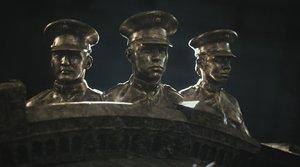 3D model marine soldier