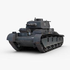 3D ww2 german neubaufahrzeug 3-5