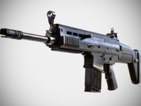 FN SCAR - H - MK 17 - Highly Detailed - PBR