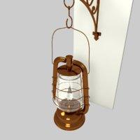 oil lantern model