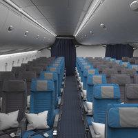 economy class interior singapore 3D model