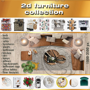 2d furniture collection