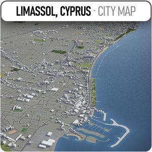 city limassol surrounding - 3D model