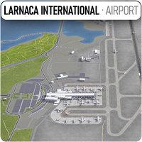 3D larnaca international airport lca