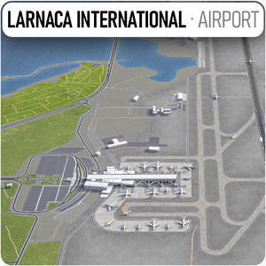 3D larnaca international airport lca
