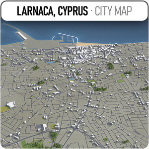 larnaca surrounding - 3D model