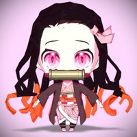 3D nezuko kawaii model