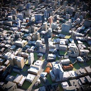 city cityscape 3D