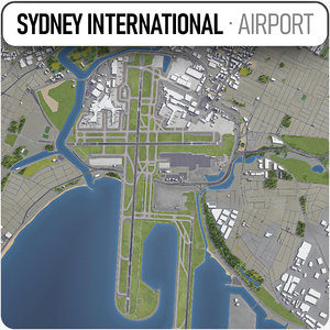 3D sydney airport - syd