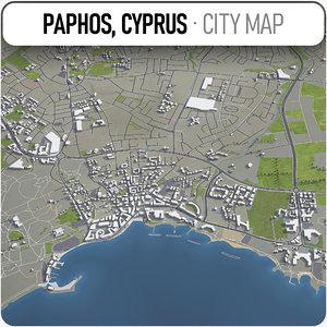 3D paphos surrounding - model