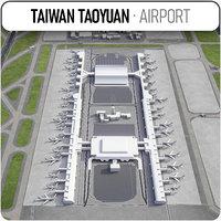 3D taiwan taoyuan international airport
