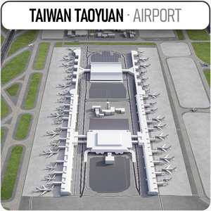 3D taiwan taoyuan international airport