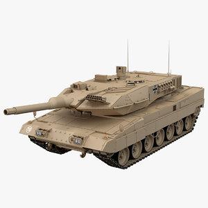 3D german leopard 2a6 desert